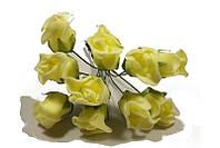 Роза искусственная желтая (букет) 10792 1-6-1