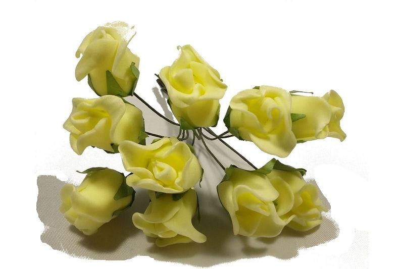 Роза искусственная желтая (букет) 10792 1-6-1 - Продавайка в Харькове