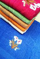 """Полотенце махровое для лица. Лицевое полотенце """"Калы"""". Пляжное полотенце"""
