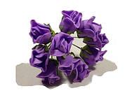 Роза искусственная фиолетовая (букет) 10792 1-6-1