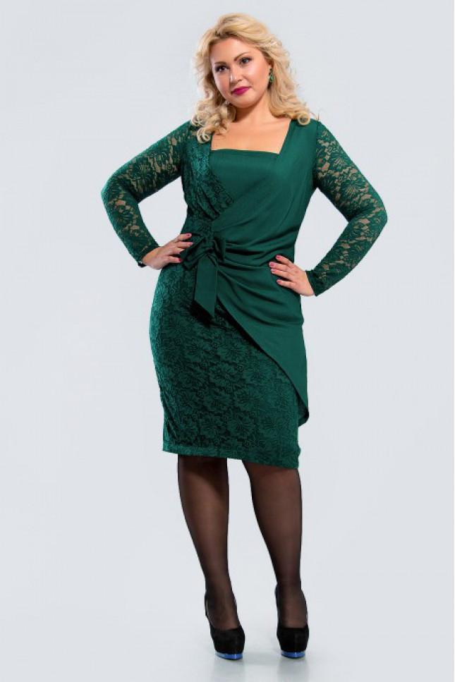 c375be0b6f9abbd Платье комбинированное из мягкого эластичного кружева и креп-шифона -  Интернет магазин View Fashion в