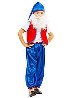 Костюм карнавальный мальчик Гном синий