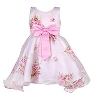 Нарядное платье для девочки с нежными цветами
