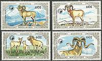 Монголия 1987 - козлы - MNH XF