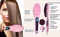 Расческа-выпрямитель Fast Hair Straightener (HQT-906 ) с Led дисплеем