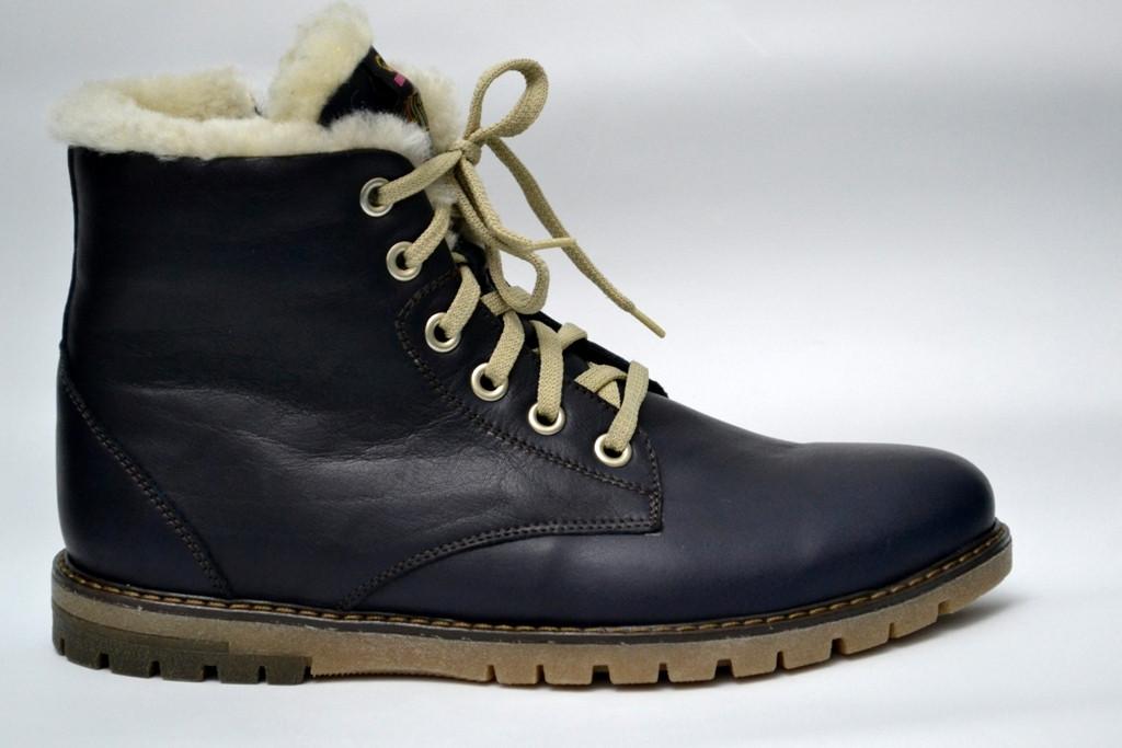 Синие зимние мужские ботинки Rosso Avangard Whisper Blu кожаные