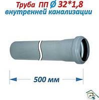 Труба Канализационная ПП (Ø 32х1,8х500мм)