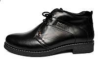 Классические зимние мужские ботинки дезерты Carlo Pa Rosso Avangard.   черные