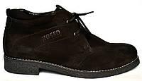 Классические зимние мужские ботинки дезерты Carlo Pa Nub Rosso Avangard. черный нубук