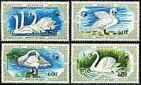 Монголия 1987 - лебеди - MNH XF