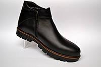 Кожаные зимние мужские ботинки криперы Rosso Avangard. Carlo Pa Aero черные