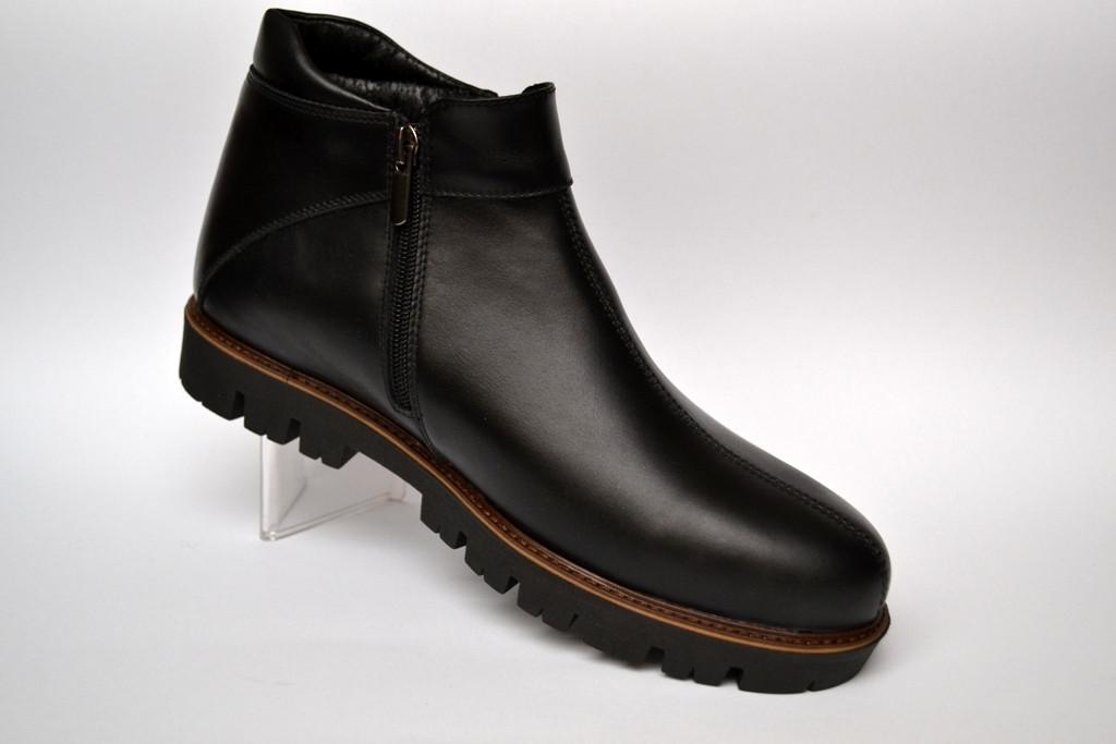 6ba4f8ffa733 Кожаные зимние мужские ботинки криперы Rosso Avangard. Carlo Pa Aero черные  40, овчина -