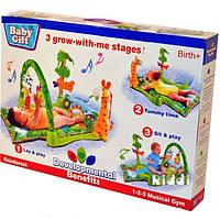 """Коврик для малышей 3059, """"Тропический лес"""", музыкальный, с игрушками, с подушечкой, яркий, развивающий, забава"""