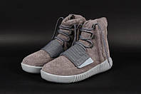 Мужские зимние кеды Adidas YEEZY 750 Boost x Kanye West серые