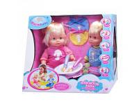 Куклы-близняшки (пупсы) в голубом и розовом нарядах