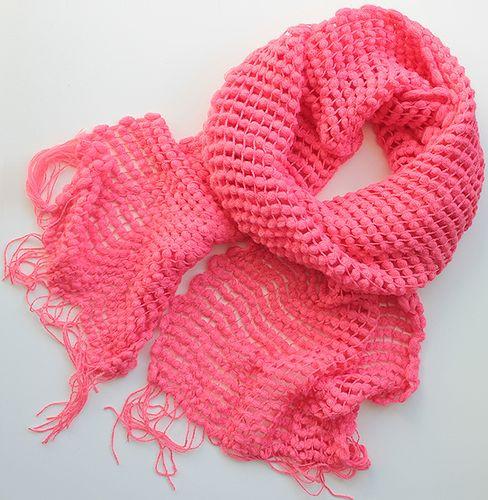Очаровательный женский теплый шарф 200 на 35 dress V2438_коралл