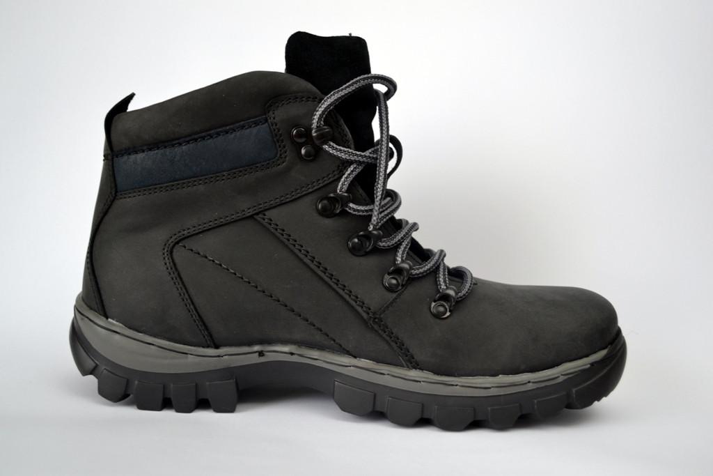 Кожаные зимние мужские ботинки Rosso Avangard. Bazz черные