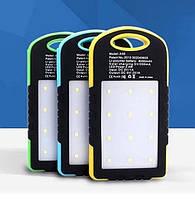 Внешний аккумулятор c LED Power bank L3 solar 10000 mAh (цвета в ассортименте)