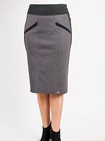 Деловая женская юбка серого цвета