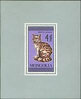 Монголия 1987 - коты - блок - MNH XF