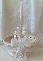 Свадебная корзина для лепестков