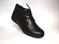 Большой размер. Кожаные зимние мужские ботинки Rosso Avangard. Berto BS 47 черные