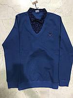 Стильный мужской рубашка-обманка Турция 46,48,50,52