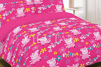 Набор постельного белья для девочки СВИНКА ПЕППА (подросток)  полуторный