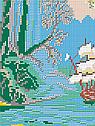 Авторская канва для вышивки бисером «Голубая лагуна», фото 2