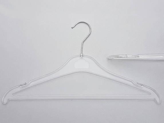 Плечики вешалки тремпеля  Marc-Th WBX9P цвет  прозрачный, длина 38,5 см, фото 2