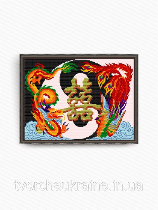 Авторская канва для вышивки бисером «Семейное счастье»