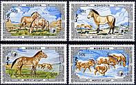 Монголия 1986 - дикие лошади - MNH XF