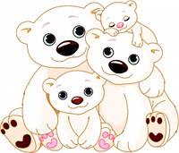 """Детские Фотообои """"Белые медведи"""", текстуры: холст, иней, декоративная штукатурка"""