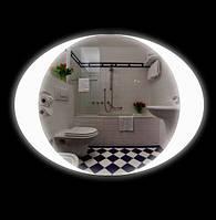 Овальное зеркало в ванную комнату 800х600 + LED + Сенсор