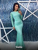 Длинное вечернее платье мб-1201 мята