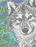 Авторская канва для вышивки бисером «Волки лунной ночью», фото 2