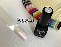Гель лак kodi professional № 6 (жемчужный с розовым перламутром) 8 мл., фото 1