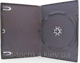 Бокс dvd-1 диска 14 мм черный глянцевый, 100 шт.