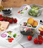 """Пищевые контейнеры для хранения продуктов """"3 в 1"""" Snips 1 л (3 шт.), фото 5"""