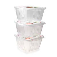 """Пищевые контейнеры для хранения продуктов """"3 в 1"""" Snips 1 л (3 шт.), фото 1"""