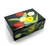 Красивая шкатулка для украшений Цветы