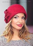 Фетровый берет шляпа цвет красный