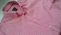 Рубашка розовая в полоску H&M Размер М
