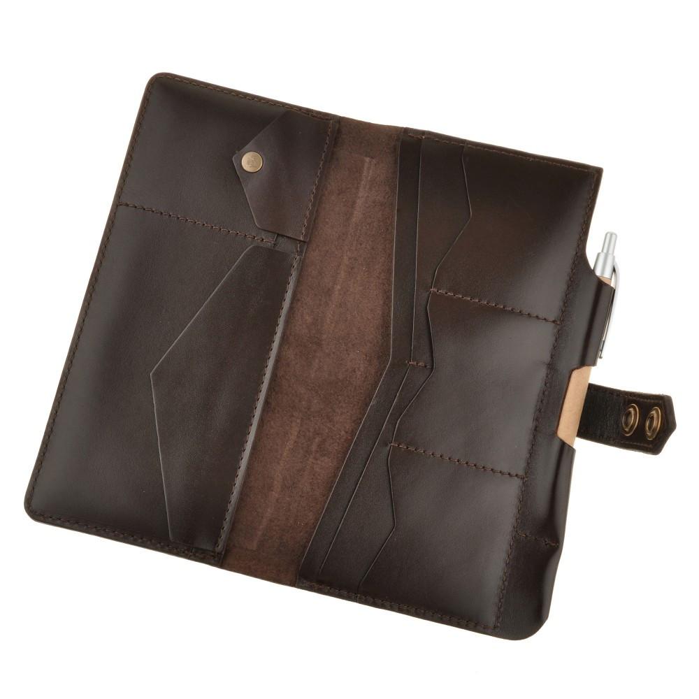 Холдер кожаный для деловых людей 4.0 Шоколад - Дизайнерские кожаные аксессуары Foxbag.com.ua в Днепре