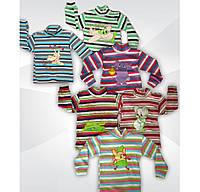Водолазка детская для мальчика с вышивкой, рубчик, р.р.26-32
