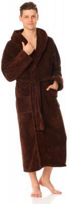 Красивый мужскойхалат размер 2XL, XLSOFTSHOW COLLECTION(СОФТШОУКОЛЛЕКШН)SS129-30 коричневый