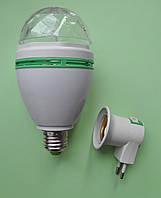 Вращающаяся светодиодная цветомузыкальная лампа для вечеринок