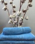 Махровое полотенце 40Х70 голубое