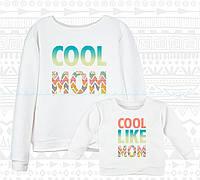 Family Look парные батники для мамы и ребенка Cool