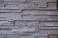 """Гипсовый декоративный камень, гипсовая плитка """"Верона"""" Серая с белым прокрасом, фото 1"""